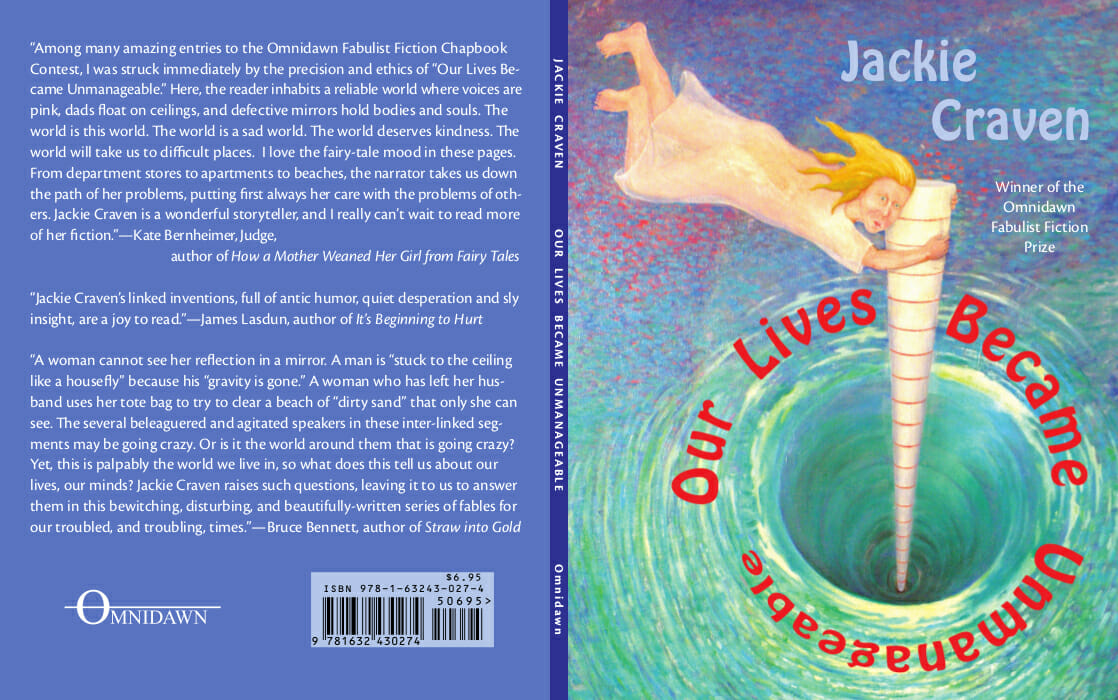 Book cover showing woman swept into a whirlpool