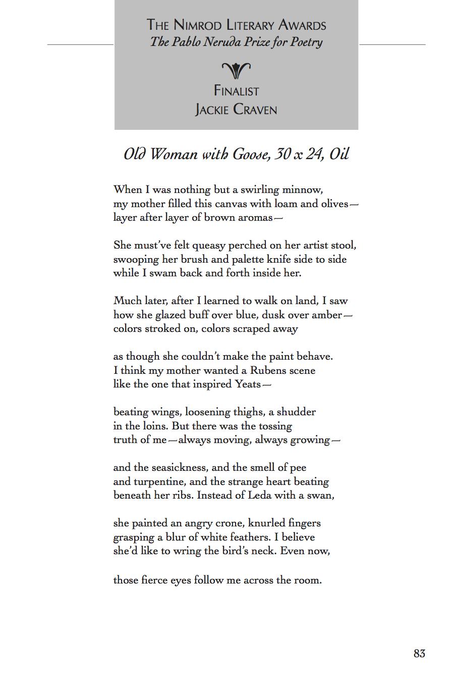 Poem by Jackie Craven