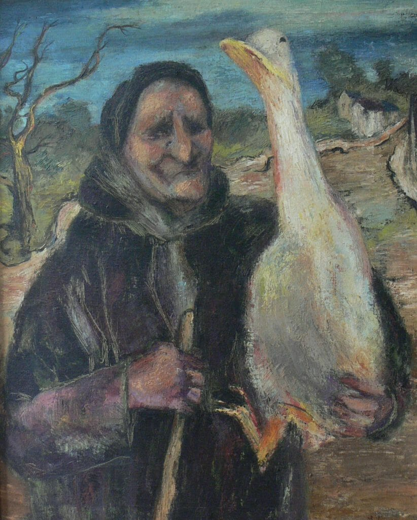 Old Woman with Goose