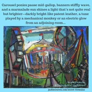 Carousel Painting With Poem